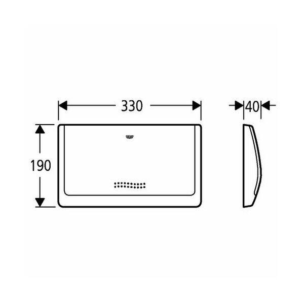 grohe abdeckplatte classic 330 37053 330x190mm f r sp lkast. Black Bedroom Furniture Sets. Home Design Ideas