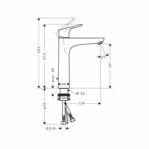 hansgrohe focus 190 waschtischmischer chrom insani24 badshop. Black Bedroom Furniture Sets. Home Design Ideas