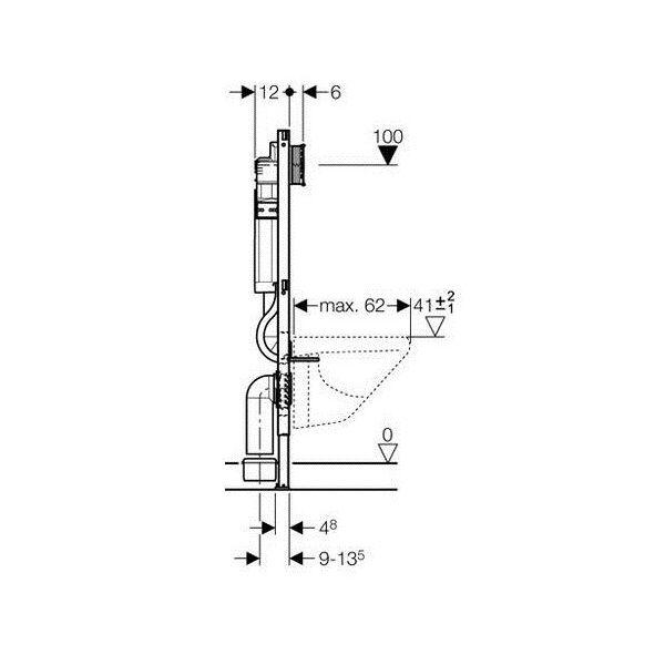 geberit duofix wc vorwandelement 112 cm mit sp lkasten. Black Bedroom Furniture Sets. Home Design Ideas