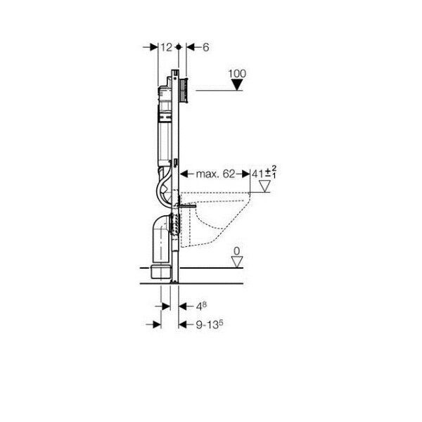 geberit duofix wand wc vorwandelement 112 cm mit up 320. Black Bedroom Furniture Sets. Home Design Ideas