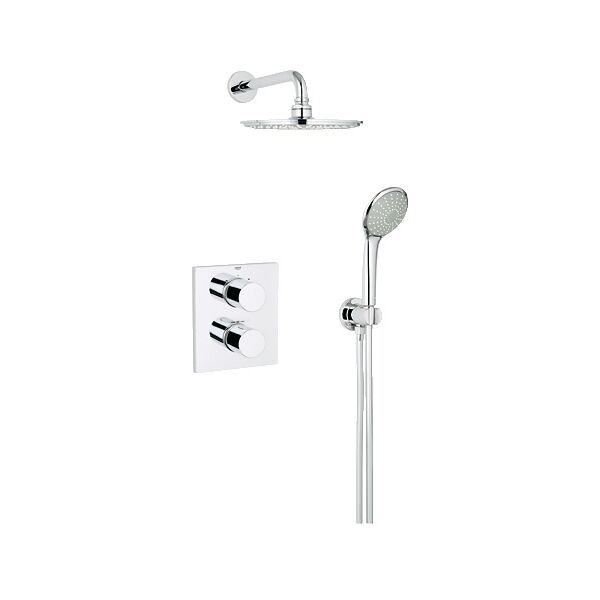 dusche set grohe grohtherm 3000 unterputz 2 mit. Black Bedroom Furniture Sets. Home Design Ideas