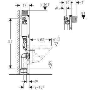 geberit duofix wc element 98 cm mit omega sp lkasten insani24 badsh. Black Bedroom Furniture Sets. Home Design Ideas