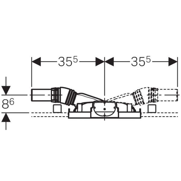 geberit duofix element f r dusche 130cm mit wandablauf wandarmatur ap. Black Bedroom Furniture Sets. Home Design Ideas