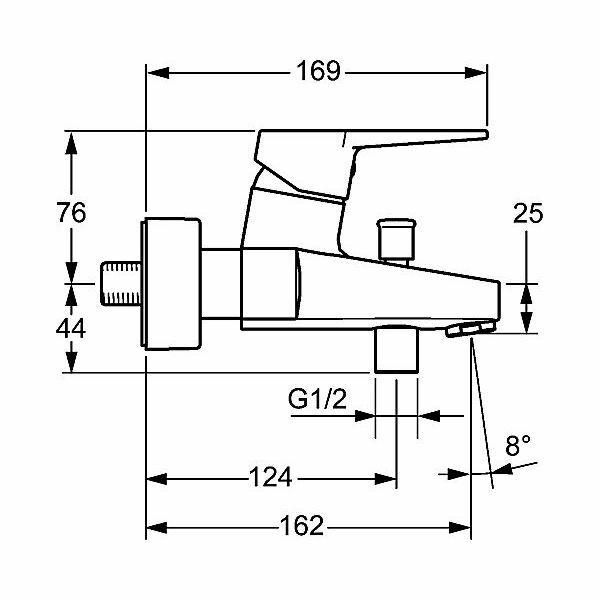 hansa twist bade armatur aufputz b gelhebel verchromt insani24 ba. Black Bedroom Furniture Sets. Home Design Ideas