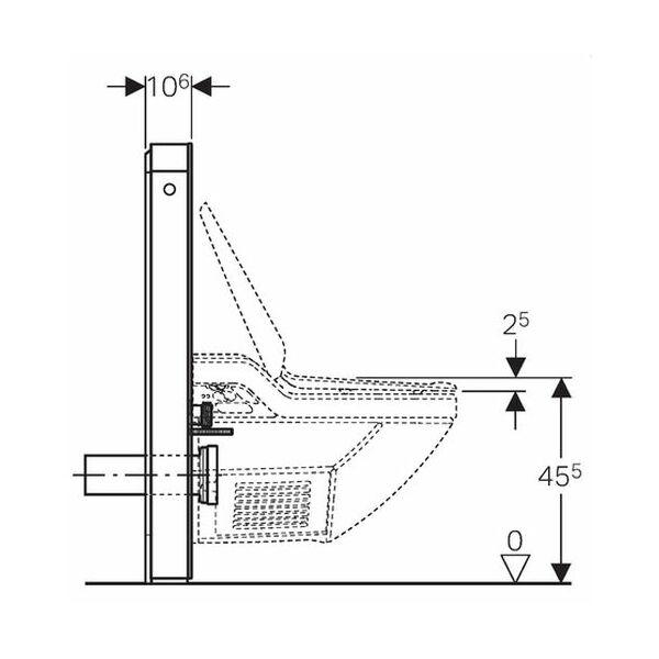 geberit monolith plus sanit rmodul f r geberit aquaclean 8000 8000p. Black Bedroom Furniture Sets. Home Design Ideas
