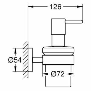Grohe Seifenspender Mit Halter Essentials 40448 Chrom Insani24 Bad