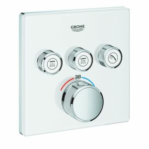 Grohe Grohtherm SmartControl Thermostat mit 3 Absperrventilen, moon white