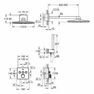 grohe smartcontrol duschsystem unterputz insani24 bath shop. Black Bedroom Furniture Sets. Home Design Ideas