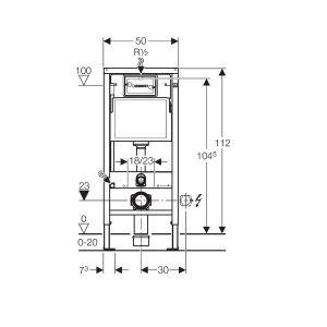 geberit duofix basic wc vorwandelement 112 cm mit sp lkasten up 100. Black Bedroom Furniture Sets. Home Design Ideas
