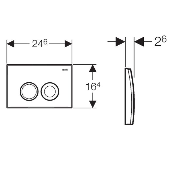 geberit delta 21 bet tigungsplatte f r 2 mengen sp lun. Black Bedroom Furniture Sets. Home Design Ideas