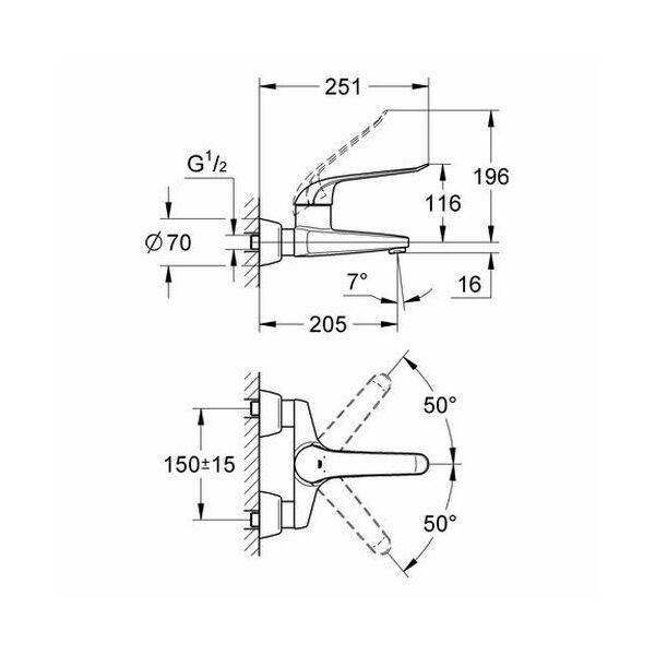 grohe euroeco special einhand waschtisch armatur gussauslauf 204mm ch. Black Bedroom Furniture Sets. Home Design Ideas