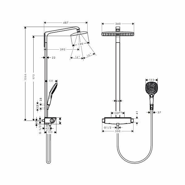 hansgrohe raindance showerpipe select weiss chrom mit. Black Bedroom Furniture Sets. Home Design Ideas