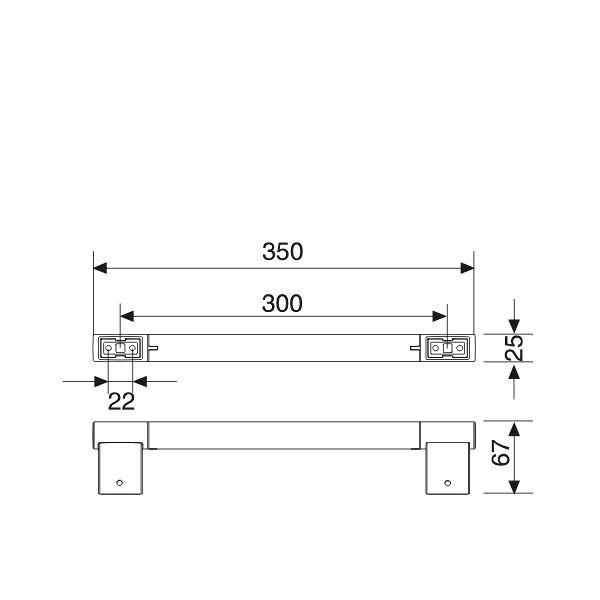 keuco plan haltegriff 300 mm insani24 badshop. Black Bedroom Furniture Sets. Home Design Ideas