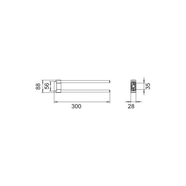 keuco plan handtuchhalter 300 mm insani24 badshop. Black Bedroom Furniture Sets. Home Design Ideas
