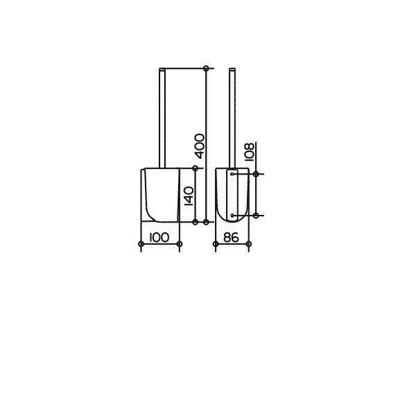 keuco elegance toilettenb rstengarnitur komplett mit echtkristall ein. Black Bedroom Furniture Sets. Home Design Ideas